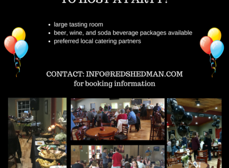 Host a Great Party at Red Shedman